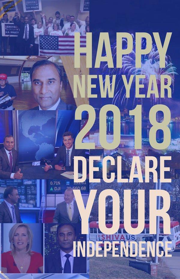 Shiva Ayyadurai Happy Independent New Year 2018