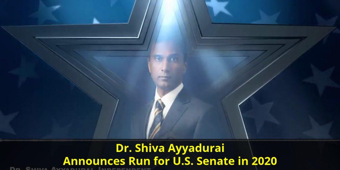 Dr. Shiva Ayyadurai announces run for U.S. Senate in 2020