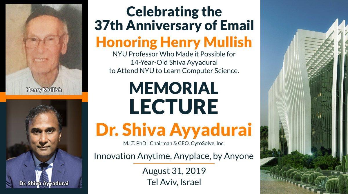 Henry Mullish Memorial Lecture by Dr. Shiva Ayyadurai